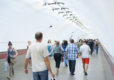 En el metro de St Petersburg Imagenes de archivo