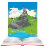 En el mundo de libros y de cuentos de hadas Fotografía de archivo