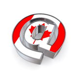 EN el nacional - Canadá Foto de archivo libre de regalías