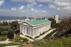 Jardines de Bahai, Haifa, Israel fotos de archivo