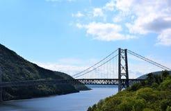 En el norte del estado puente el río Hudson de Nueva York Imágenes de archivo libres de regalías