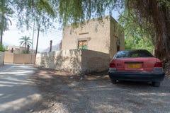 En el oasis cerca del fuerte de Rustaq, Omán fotos de archivo