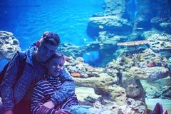 En el oceanarium Fotografía de archivo