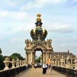 En el palacio de Zwinger en Dresden Imagen de archivo