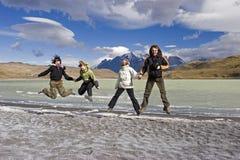 En el parque nacional de Torres del Paine fotos de archivo libres de regalías