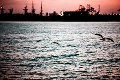 En el pequeño puerto de Nessebar imagen de archivo