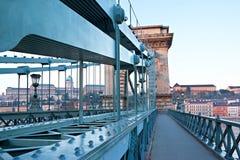 En el puente fotografía de archivo