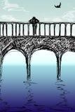 En el puente Stock de ilustración