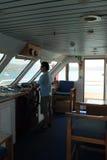 En el puente del capitán Foto de archivo