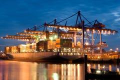 En el puerto Fotografía de archivo