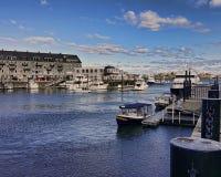 En el puerto de Boston Fotos de archivo libres de regalías
