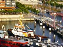 En el puerto de Kiel, Alemania fotos de archivo libres de regalías
