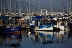 En el puerto pesquero de Ajacio foto de archivo libre de regalías