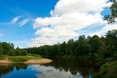 En el río Foto de archivo libre de regalías