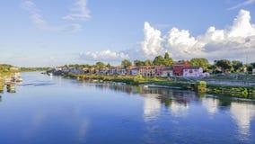 En el río azul Fotos de archivo libres de regalías