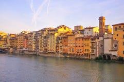 En el río de Arno Fotografía de archivo