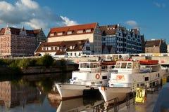 En el río de Motlawa en Gdansk Fotos de archivo