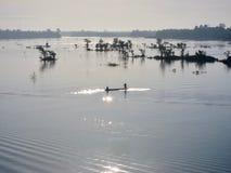 En el río Mekong Fotografía de archivo