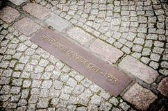 En el rastro del muro de Berlín Imágenes de archivo libres de regalías