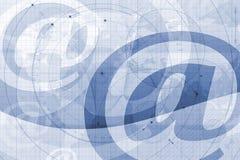 En el símbolo del email ilustración del vector