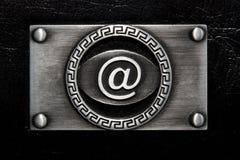 ?en? el símbolo en la placa inoxidable Fotografía de archivo libre de regalías
