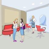 En el salón de la peluquería ilustración del vector