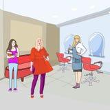 En el salón de la peluquería libre illustration