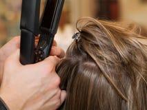 En el salón de pelo Imagen de archivo
