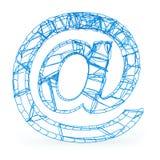 En el símbolo del email Fotos de archivo
