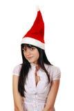 En el sombrero de Santa Imágenes de archivo libres de regalías