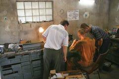En el taller auto Imagen de archivo