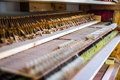 En el taller del piano Imágenes de archivo libres de regalías