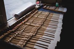 En el taller del piano Fotografía de archivo