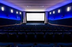 En el teatro del cine foto de archivo libre de regalías