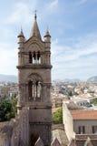 En el tejado de la catedral de Palermo Fotografía de archivo