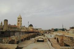 En el tejado de la ciudad vieja Jerusalén Israel Fotografía de archivo libre de regalías