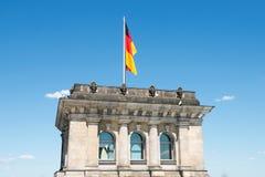 En el tejado de Reichstag imagenes de archivo