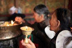 En el templo de Jokhang Fotos de archivo