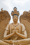En el templo de los 10000 Buddhas Fotografía de archivo