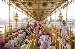 En el templo de oro, Amritsar, la India Fotografía de archivo
