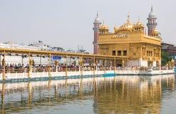 En el templo de oro, Amritsar, la India Fotografía de archivo libre de regalías