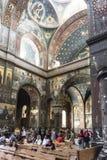 En el templo en nuevo Athos Imágenes de archivo libres de regalías