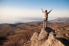 En el top del mundo Fotografía de archivo