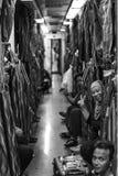 En el tren Imagen de archivo