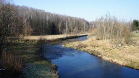 En el valle de Mulde en Sajonia Foto de archivo libre de regalías