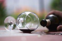 En el vino Veritas Imagen de archivo libre de regalías