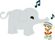 En elefant som ska caps. Royaltyfri Foto
