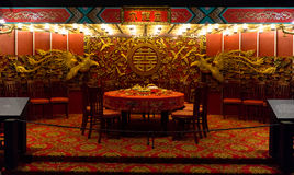 En elegant restaurang i Hong Kong, Kina royaltyfri foto
