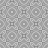 En elegant svartvit vektormodell, geometrisk fyrkantig tegelplatta Royaltyfria Bilder
