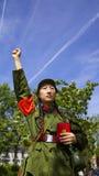 En elogio al presidente Mao Fotografía de archivo